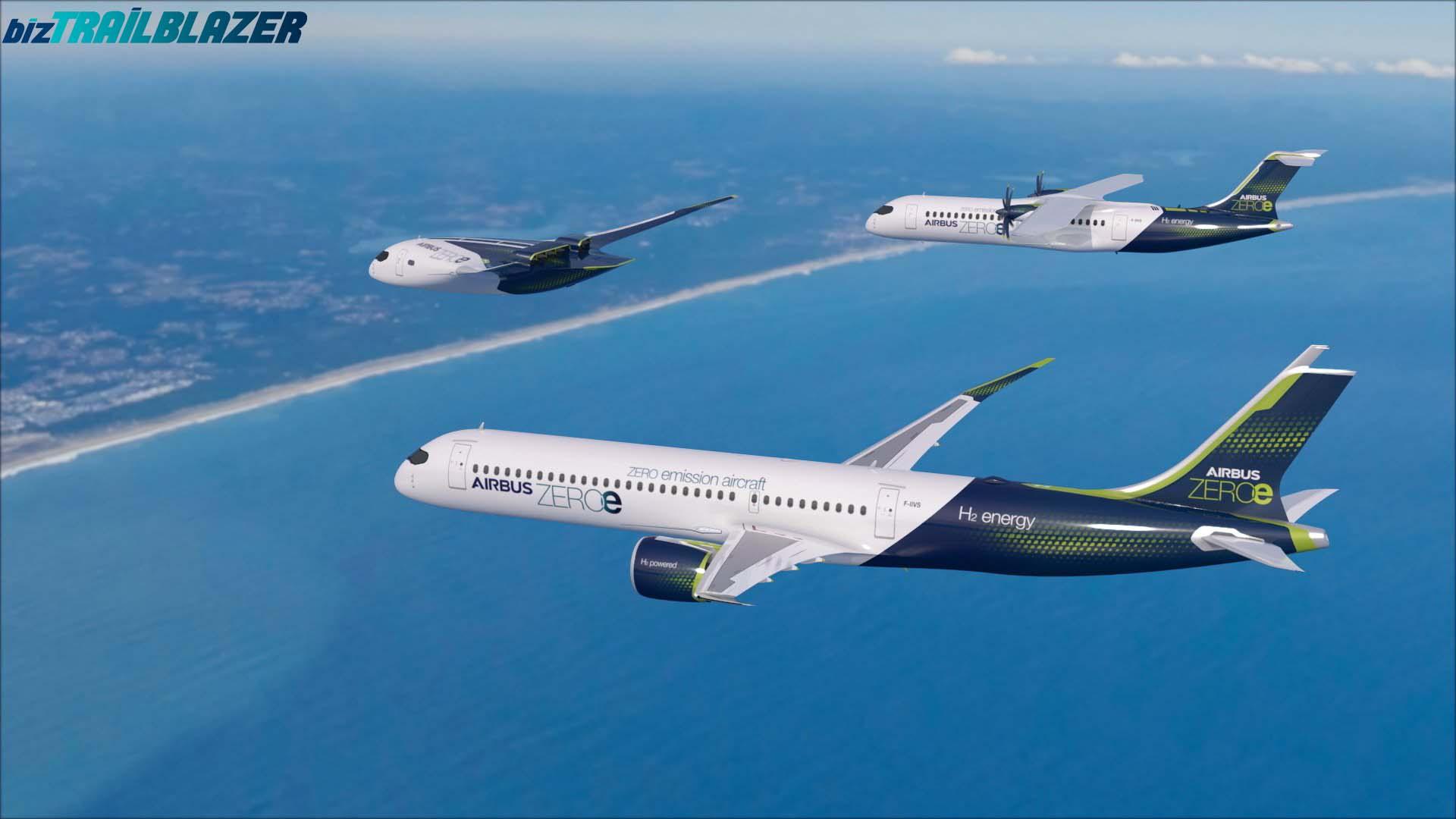 BizTrailBlazer-Blog-Airbus-Unveils-Zero-Emission-Concept-Aircrafts